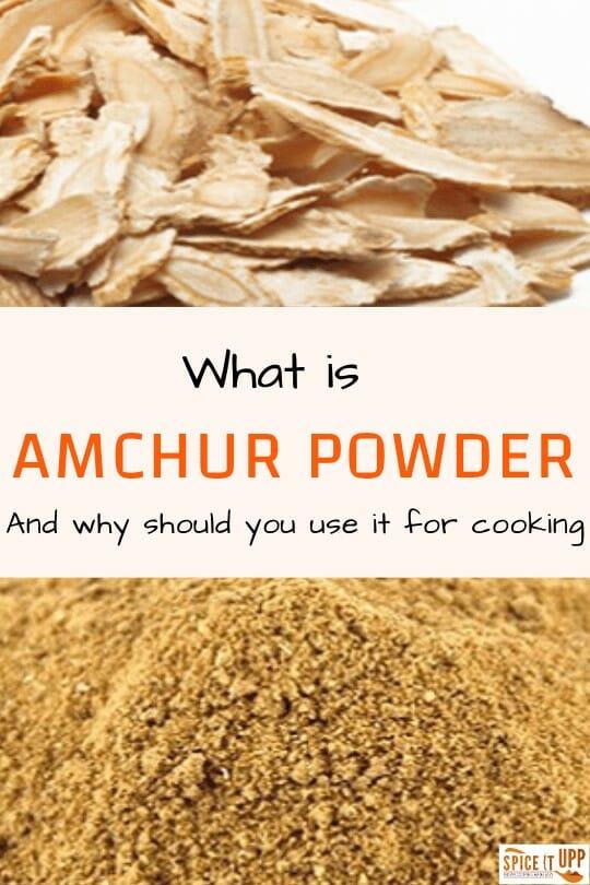 Amchur powder pinterest image