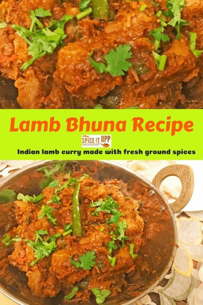 Lamb bhuna recipe - Indian lamb curry recipe . How to make Indian lamb bhuna