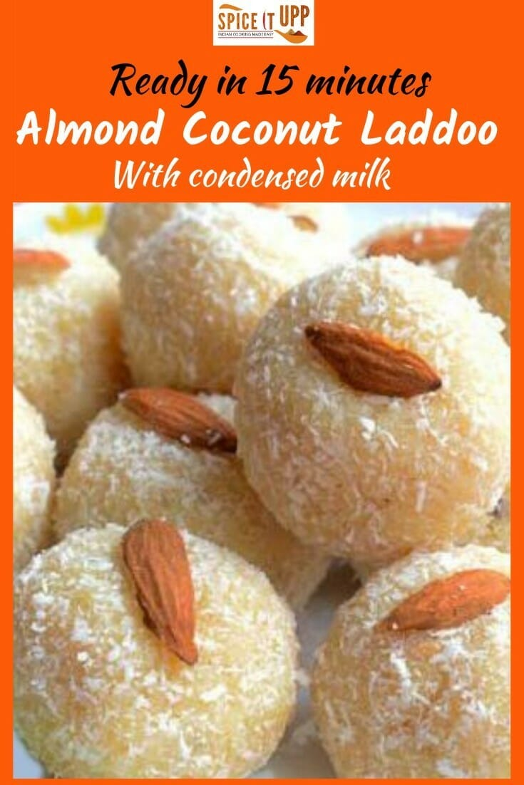 Easy almond coconut recipe with condensed milk