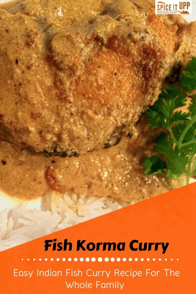 Indian fish korma recipe pinterest image